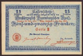 Luxemburg / Luxembourg P.31a 25 Franken 1918 (1)