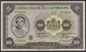 Luxemburg / Luxembourg P.39 100 Francs (1934) (1)
