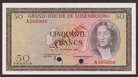 Luxemburg / Luxembourg P.51s 50 Francs 1961 Specimen (1)