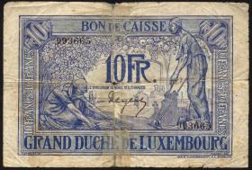 Luxemburg / Luxembourg P.34 10 Francs (1923) (6)