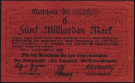 Reichsmarine Ostseebereich P.M28 5 Milliarden Mark 1923 (3+)