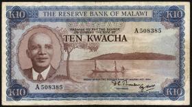 Malawi P.08 10 Kwacha L.1964 (1971) (3-)