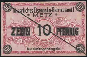 M.145-0 Kaiserliches Eisenbahn Betriebsamt Metz 10 Pfennig o.J. (2)