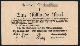Reichsmarine Ostseebereich P.M27 1 Milliarde Mark 1923 (3+) 4-stellig
