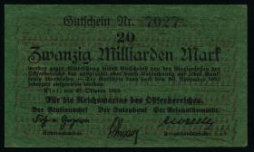 Reichsmarine Ostseebereich P.M29 20 Milliarden Mark 1923 (1-) 4-stellig