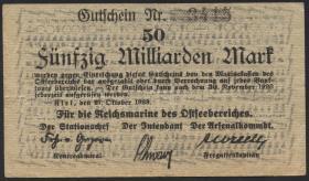 Reichsmarine Ostseebereich P.M30 50 Milliarden Mark 1923 (3+)