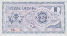 Mazedonien / Macedonia P.01 10 Denari 1992 (1)