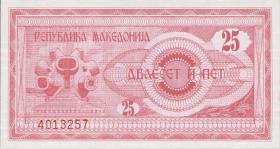 Mazedonien / Macedonia P.02 25 Denari 1992 (1)