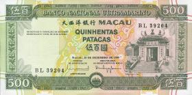 Macau / Macao P.074 500 Patacas 1999 (1)