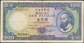 Macau / Macao P.061b 100 Patacas 1984 (3)