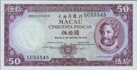 Macau / Macao P.060b 50 Patacas 1981 (1)
