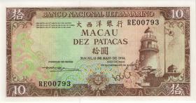 Macau / Macao P.059e 10 Patacas 1984 (1)