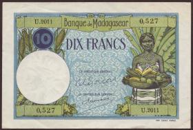 Madagaskar P.36 10 Francs (1937-47) (2+)