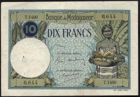 Madagaskar P.36 10 Francs (1937-47) (3)