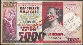 Madagaskar P.66s 5000 Francs = 1000 Ariary (1974) (2)
