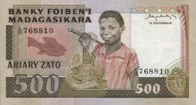 Madagaskar P.67a 500 Francs = 100 Ariary (1983-87) (1)