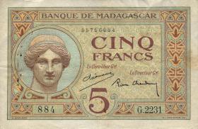 Madagaskar P.35 5 Francs (ca.1937) (3)