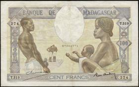 Madagaskar P.40 100 Francs (ca.1937) (3)