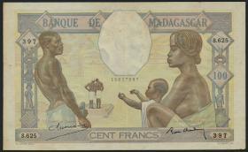 Madagaskar P.40 100 Francs (ca.1937) (3+)