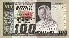 Madagaskar P.63a 100 Francs = 20 Ariary (1974-75) (1)