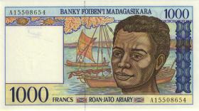 Madagaskar P.76a 1000 Francs (1994) (1)