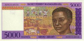 Madagaskar P.78a 5000 Francs (1995) (1)