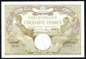 Madagaskar P.38 50 Francs (ca. 1937-47) (2+)