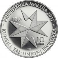 Malta 10 Euro 2017 Ratspräsidentschaft