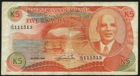 Malawi P.20b 5 Kwacha 1988 (4)
