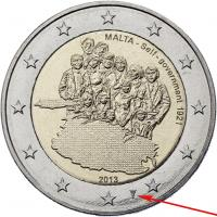 Malta 2 Euro 2013 Autonomie mit Mzz.