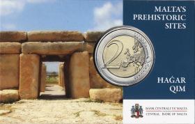 Malta 2 Euro 2017 Hagar Qim Tempel Coincard