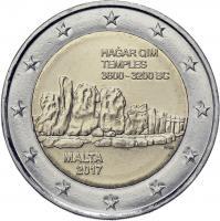 Malta 2 Euro 2017 Hagar Qim Tempel