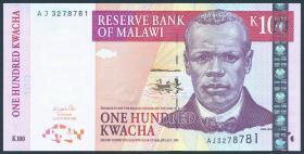 Malawi P.46a 100 Kwacha 2001 (1)