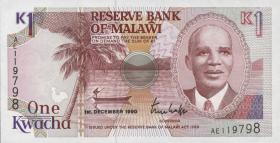 Malawi P.23a 1 Kwacha 1990 (1)