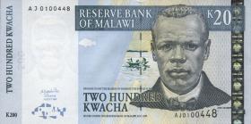Malawi P.47a 200 Kwacha 2001 (1)