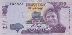 Malawi P.57a 20 Kwacha 1.1.2012 (1)