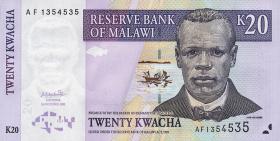 Malawi P.44a 20 Kwacha 2001 (1)