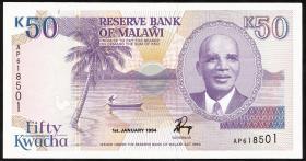 Malawi P.28b 50 Kwacha 1994 (1-)