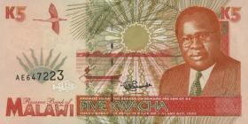 Malawi P.30 5 Kwacha 1995 (1)