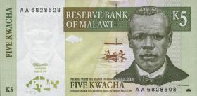 Malawi P.36 5 Kwacha 1997 (1)