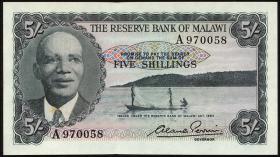 Malawi P.01 5 Shillings 1964 (1)