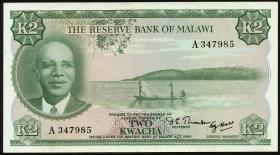 Malawi P.07 2 Kwacha (1971) (1-)