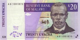 Malawi P.38a 20 Kwacha 1997 (1)