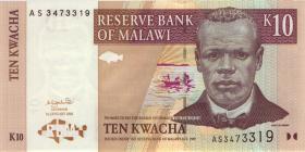 Malawi P.43a 10 Kwacha 1.1.2001 (1)