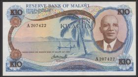 Malawi P.12a 10 Kwacha (1973) (1/1-)