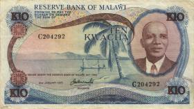 Malawi P.12c 10 Kwacha 1975 (3)