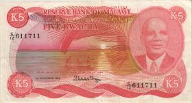 Malawi P.15f 5 Kwacha 1984 (3)