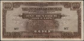 Malaya-Jap.Besetzung P.M 08c 100 Dollars (1944) (1)