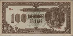 Malaya-Jap.Besetzung P.M 09 100 Dollars (1945) (1-)