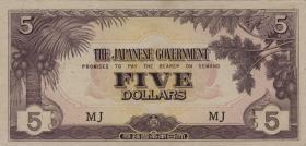 Malaya-Jap.Besetzung P.M 06b 5 Dollars (1942)